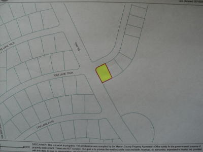 Ocala Residential Lots & Land For Sale: Oak Lane Trak #01