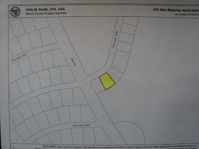Ocala Residential Lots & Land For Sale: Oak Lane Trak #02