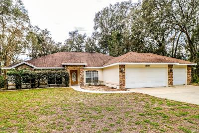 Dunnellon Single Family Home For Sale: 18980 SW 98th Place Place