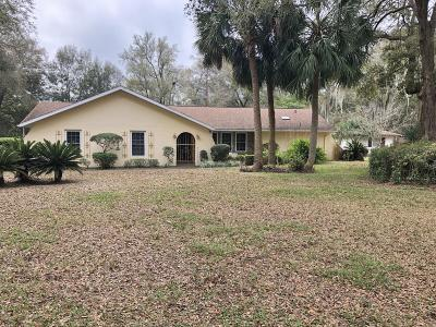 Dunnellon Single Family Home For Sale: 19790 SW 88 Place Road