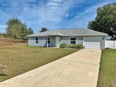 Ocala FL Single Family Home For Sale: $119,000