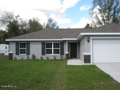 Ocala Single Family Home For Sale: 17 Almond Drive Trail
