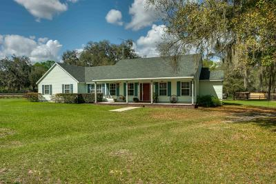 Citra Single Family Home Pending: 18368 NW 43rd Court Road