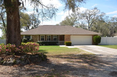 Belleview Single Family Home For Sale: 11102 SE 108th Terrace Road Road
