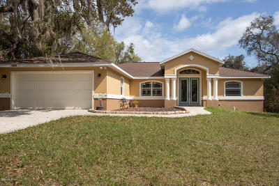 Dunnellon Single Family Home Pending-Continue to Show: 4659 E Spruce Drive