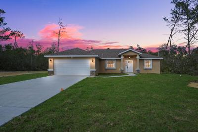 Citrus Springs Single Family Home For Sale: 8211 N Dothan Drive