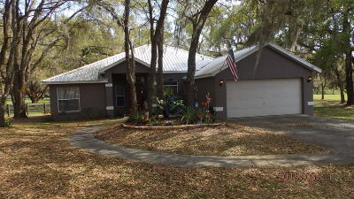 Dunnellon Single Family Home For Sale: 7884 W Oak Chase Ct Court