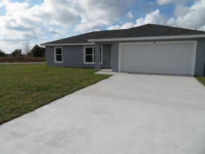 Ocala Single Family Home For Sale: 3190 SW 170th Place