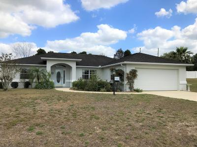 Ocala Single Family Home For Sale: 8601 SW 60th Circle