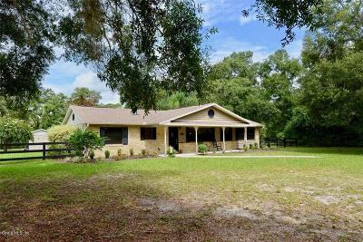 Belleview Single Family Home For Sale: 11100 SE 108 Terrace Road