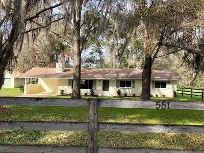 Ocala Farm For Sale: 551 SW 85 Street
