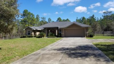 Ocala Single Family Home For Sale: 6311 SW 135th Terrace Road