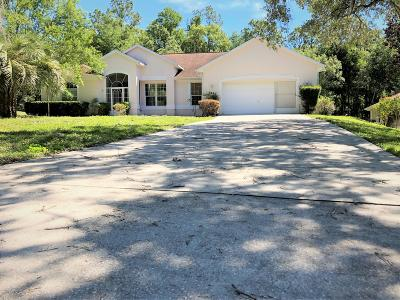 Dunnellon Single Family Home For Sale: 9780 SW 195 Circle