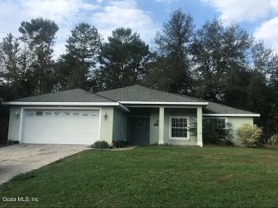 Ocala Single Family Home For Sale: 12750 SW 40th Terrace