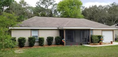 Ocklawaha FL Single Family Home For Sale: $167,000