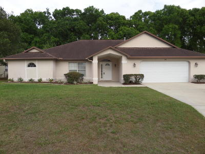 Ocala Single Family Home For Sale: 97 SE 63 Terrace