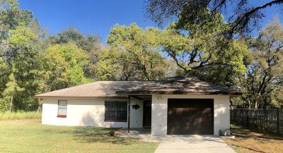 Ocala Single Family Home For Sale: 512 Bahia Circle Lane