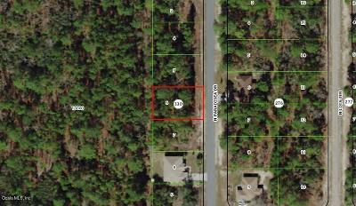 Citrus Springs FL Residential Lots & Land For Sale: $15,000