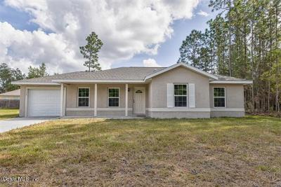 Ocala Single Family Home For Sale: 17133 SW 20th Ct Road