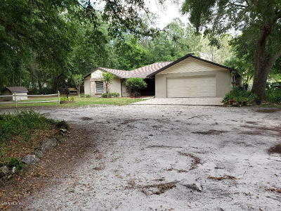 Belleview Single Family Home For Sale: 10825 SE 108th Terrace Road