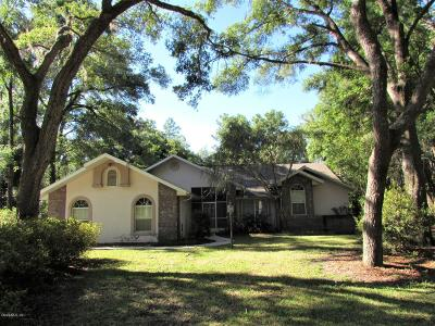 Dunnellon Single Family Home For Sale: 7983 SW 186 Circle