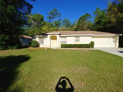 Citrus Springs Single Family Home For Sale: 9612 N Jackson Way