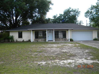 Ocala Single Family Home For Sale: 15750 SW 27th Avenue Road