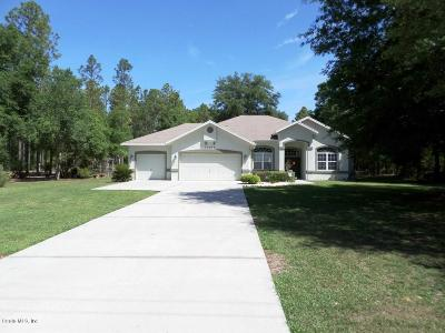 Dunnellon Single Family Home For Sale: 20299 SW 54 Street
