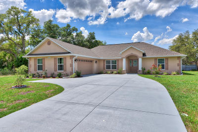 Marion Oaks North, Marion Oaks Rnc, Marion Oaks South Single Family Home For Sale: 13772 SW 27 Court Road