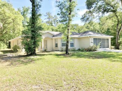 Dunnellon Single Family Home For Sale: 19051 SW 100th Place