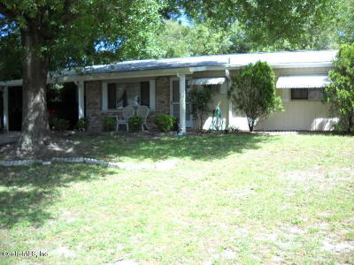 Ocala FL Single Family Home For Sale: $109,500