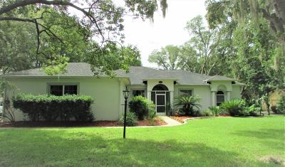 Dunnellon Single Family Home For Sale: 19786 SW 88th Place Road