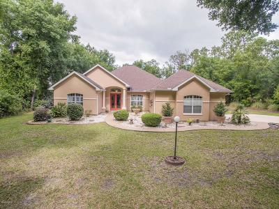 Dunnellon Single Family Home For Sale: 21795 SW 88th Lane Road