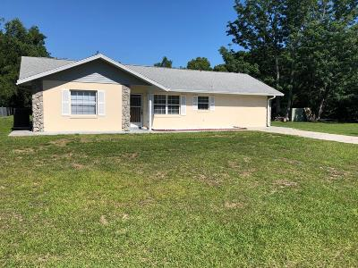 Belleview Single Family Home For Sale: 12073 SE 72nd Ct Road