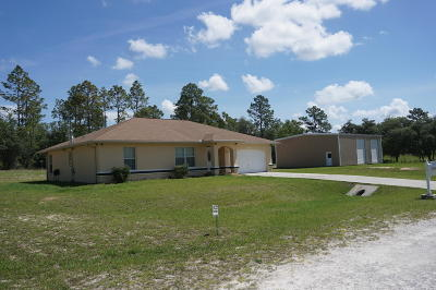 Ocala Single Family Home For Sale: 2689 SW 165th Ave Road