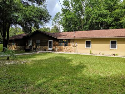 Dunnellon Single Family Home For Sale: 3634 S Hwy 41