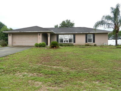 Ocala Single Family Home For Sale: 74 Pecan Course Loop