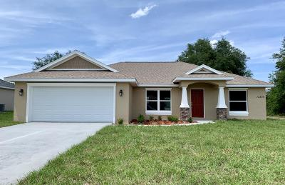 Dunnellon Single Family Home For Sale: 13305 SW 107 Place