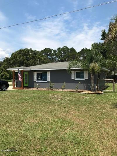 Ocklawaha Single Family Home For Sale: 12396 SE 138 Avenue