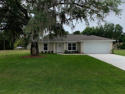 Dunnellon Single Family Home For Sale: 17572 SW 115th Lane