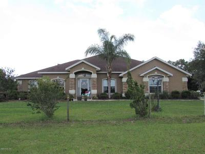 Dunnellon Single Family Home For Sale: 10379 N Circle M Ranchettes