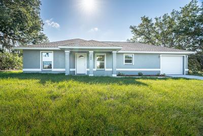 Ocala Single Family Home For Sale: 4 Cedar Tree Run