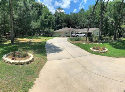 Dunnellon Single Family Home For Sale: 19269 SW 101st Place Road Road