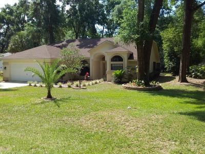 Dunnellon Single Family Home For Sale: 19140 SW 101st Place Road