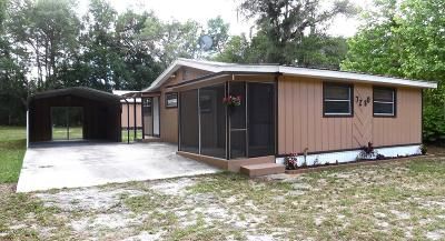 Dunnellon Single Family Home For Sale: 7280 W Leisure Street