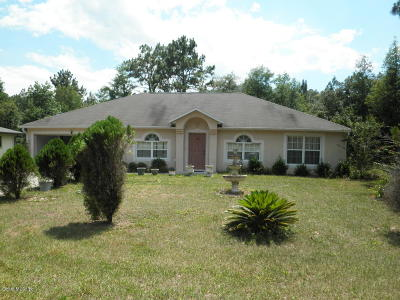 Citrus Springs Single Family Home For Sale: 8312 N Pickinz Way