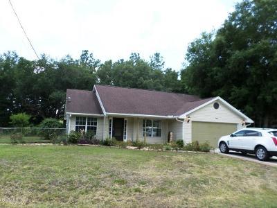Dunnellon Single Family Home For Sale: 11824 SE 195 Lane
