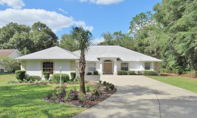 Dunnellon Single Family Home For Sale: 19609 SW 93 Place