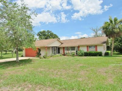 Dunnellon Single Family Home For Sale: 8827 SW 196 Terrace Road