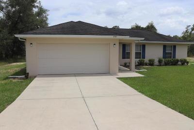 Dunnellon Single Family Home For Sale: 22154 SW Papaya Lane